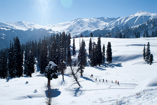 Beautiful Skiing Resort of Gulmarg in Kashmir - India